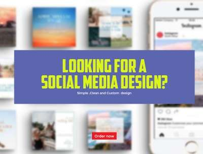 Design Anything You Want for social media pages