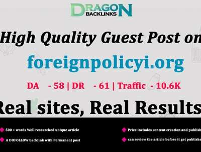 High Quality Guest Post on foreignpolicyi.org|foreignpolicyi
