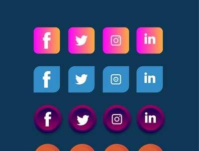 Design 8 Social media Icons