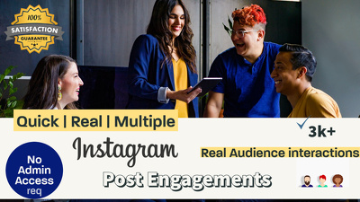 Grow Instagram by boosting Post Engagements with Real Audience