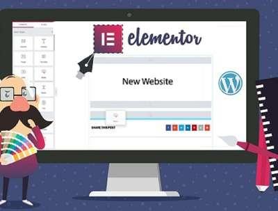 Responsive design website with Elementor using WordPress