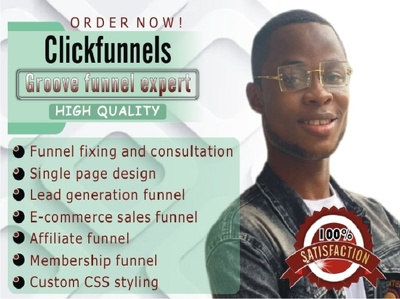 Build a sales funnel on clickfunnels or groovefunnels