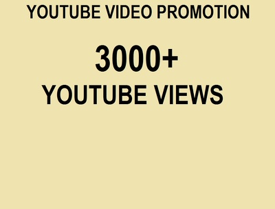 Boost Your Youtube Video And Get you 3000+ Views