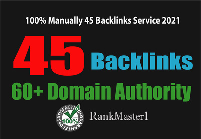 45 Backlinks from High DA-60+ Domains-Skyrocket your Google RANK