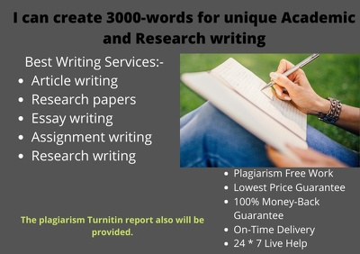 Create 3000-words far unique academic and research writing