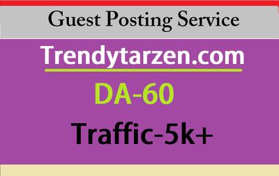 Publish Guest post on Trendytarzen - Trendytarzen.com DA60