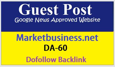 Publish guest post on Marketbusiness-Marketbusiness.net DA60