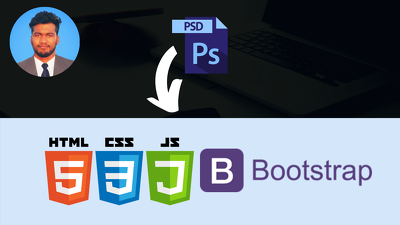 Convert PSD to HTML with responsive