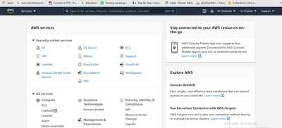Provide different services of AWS Cloud
