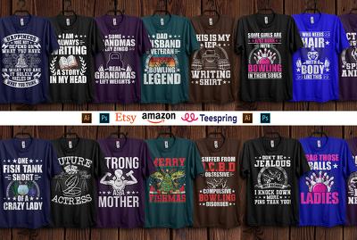 Design Custom t-shirt for merch, teespring & your business