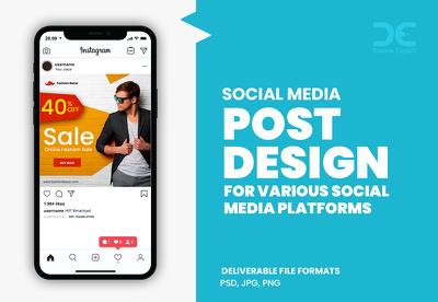 Design Social Media Post for Various Social Media Platforms