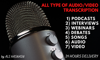 Transcribe any Audio or Video file accurately (upto 30 minutes)