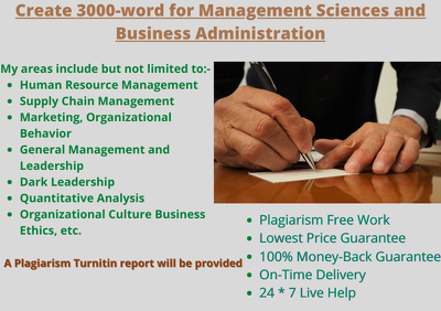 Create 3000-word for Management Sciences