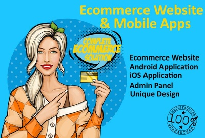 Develop a complete eCommerce website and dashboard