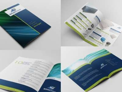 Make a modern catalog, brochure, booklet for your business!