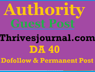 Guest Post on authority website Thrivesjournal.com