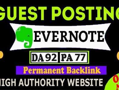 Write and Publish Unique Guest Post on Evernote.com DA 92