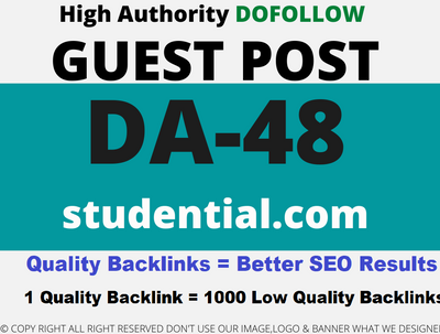 Publish a Guest Post on studential/studential.com DA 48