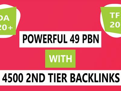Provide powerful 49 Homepage Dofollow PBN backlinks