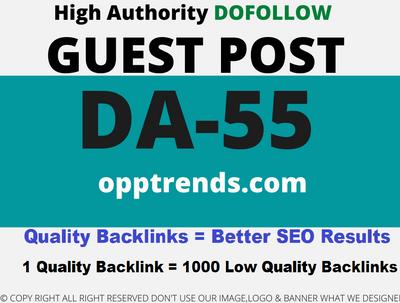 Publish a Guest Post on opptrends/opptrends.com DA 55