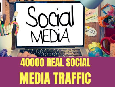 Send 40000 USA traffic to website from social Facebook ,Twitter