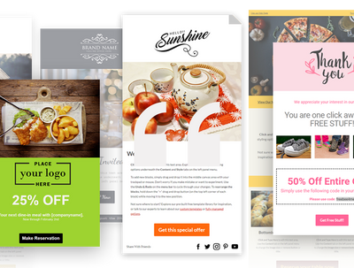 Campaign Monitor editable email template (drag and drop)