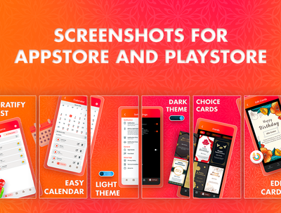 Make screenshots for AppStore and PlayStore