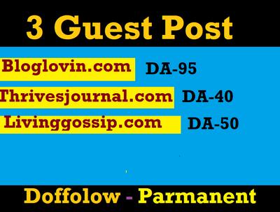 Publish Guest post on Bloglovin,Bloglovin.com