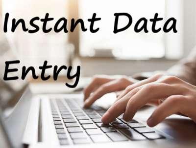 Do instant data entry for 1 hour