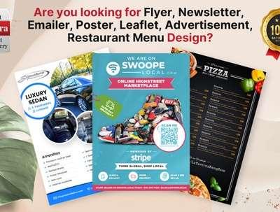 Design your Flyer, Newsletter, leaflet, Poster, Menu in PSD/PDF