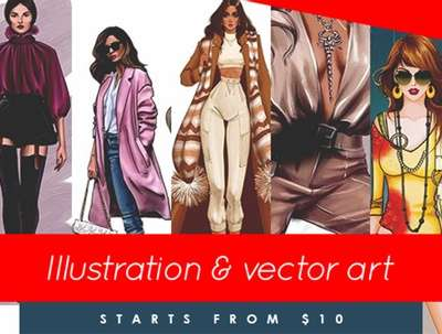 Provide any type of illustration and vector art