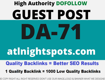 Publish a Guest Post on atlnightspots/atlnightspots.com