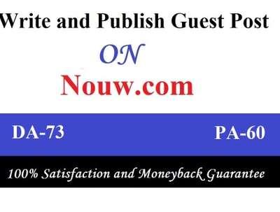 Write & publish premium post on Nouw, Nouw.com DA 73 Dofollow