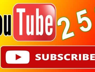 Active Real Human 250 Youtube Subscribers to your channel
