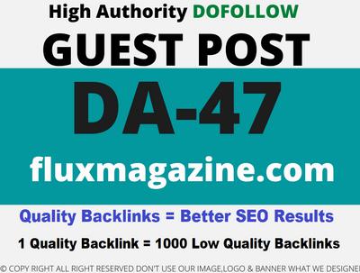Publish Guest Post on fluxmagazine - fluxmagazine.com DA-47