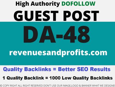 Publish Guest Post on revenuesandprofits/revenuesandprofits.com