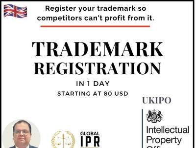 UKIPO Trademark Filing in 1 day