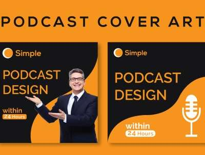 I will design podcast cover art and podcast logo in 24 hours