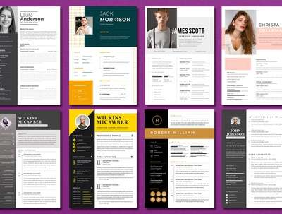 Design your Resume, 2 concepts