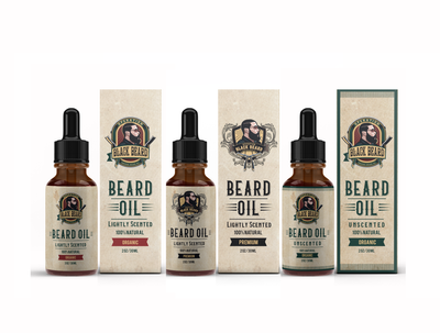 Create beard oil label and box design/packaging