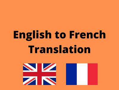Translate your document from English to French up to 500 words