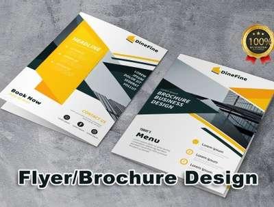 Design Double Sided Brochure, Flyers or Leaflets