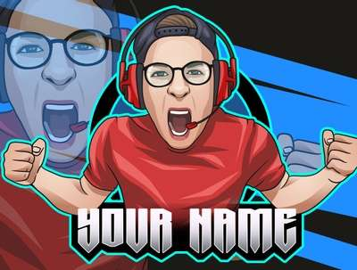 Design avatar portrait mascot logo for twitch gaming streaming