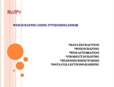 Web Scraping thru Automation