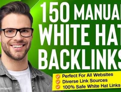 150 SEO backlinks manual link building service for google top