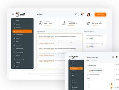 Design a professional UI/UX for your backend system