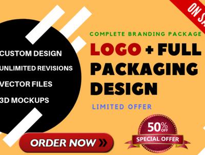 Premium Amazon Product Packaging Design + Winning Brand Logo
