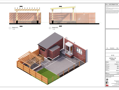 Create 2D & 3D garden design drawings with materials spec