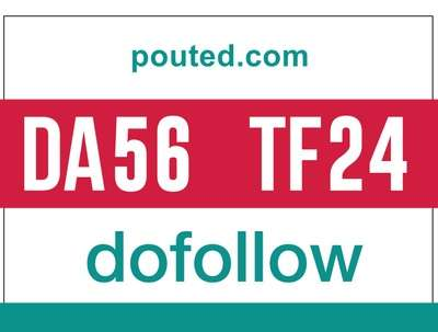 Guest post on pouted- pouted.com - DoFollow DA56