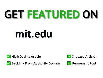 Publish EDU Guest Post on Mit.edu DA 93 Dofollow Link
